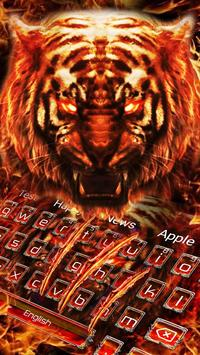 Red Horror Fire Tiger Keyboard Theme poster
