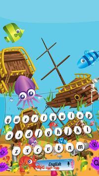 Cartoon Underwater Sea Keyboard Theme screenshot 3