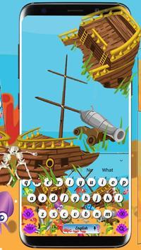 Cartoon Underwater Sea Keyboard Theme screenshot 1