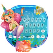 Cute Unicorn Mermaid Keyboard Theme icon