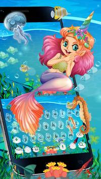 Cute Unicorn Mermaid Keyboard Theme poster
