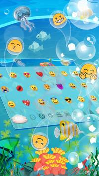 Cute Unicorn Mermaid Keyboard Theme screenshot 2