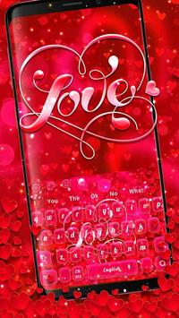 Red Love Heart Keyboard Theme poster