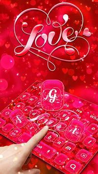 Red Love Heart Keyboard Theme screenshot 1