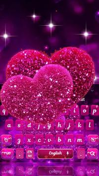 Glitter Sparkling Heart Keyboard Theme screenshot 3