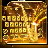 Golden Saxophone Keyboard Theme🎺 icon