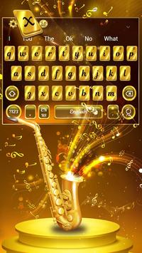 Golden Saxophone Keyboard Theme🎺 screenshot 1