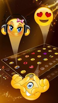 Golden Saxophone Keyboard Theme🎺 screenshot 2