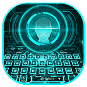 Neon Face Detector Keyboard Theme icon