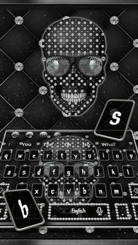 Diamond Black Skull Keyboard Theme screenshot 3