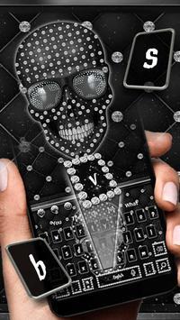 Diamond Black Skull Keyboard Theme screenshot 1