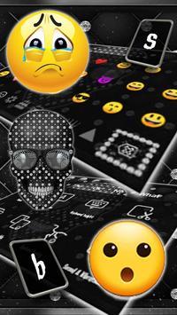 Diamond Black Skull Keyboard Theme screenshot 2
