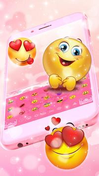Pink Teddy Couple Love Keyboard Theme screenshot 2