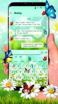 Nature Butterfly Animated Keyboard Theme poster