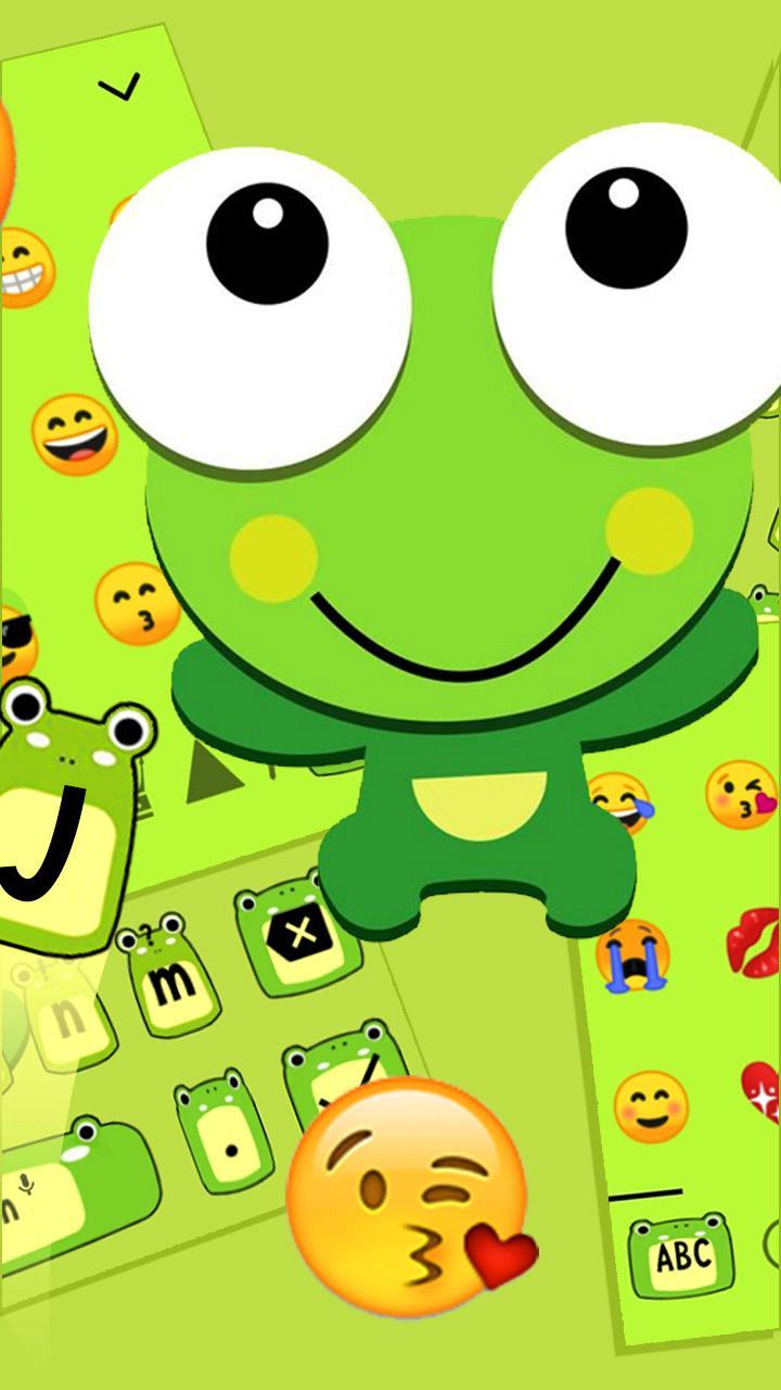 Cute Cartoon Green Frog Keyboard Theme 🐸 For Android APK
