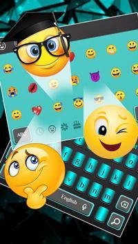Luxury Blue Black Business Keyboard Theme screenshot 2