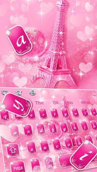 Glitter Eiffel tower Keyboard Theme poster