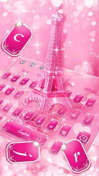 Glitter Eiffel tower Keyboard Theme screenshot 1