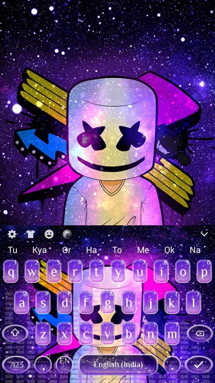 Android 用の ギャラクシーネオンdj Marshmelloキーボード Apk を