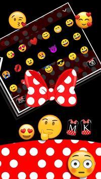Red Cute Minny Bow Keyboard Theme 💎 screenshot 1