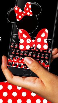 Red Cute Minny Bow Keyboard Theme 💎 screenshot 2