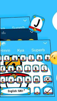 Diamond Blue Cat Kawaii Keyboard Theme 💎 screenshot 1