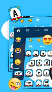 Diamond Blue Cat Kawaii Keyboard Theme 💎 screenshot 4