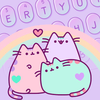 Purple Cute Kitty keyboard simgesi