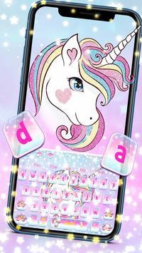 Dream Unicorn Keyboard theme poster