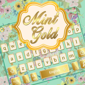 Mint And Gold Keyboard Theme icon