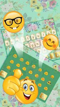 Mint And Gold Keyboard Theme screenshot 2