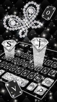 Luxury Shine Diamond Butterfly Keyboard Theme poster
