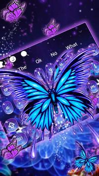 Lively Butterfly Keyboard poster