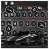 Luxury black sports car keyboard icône