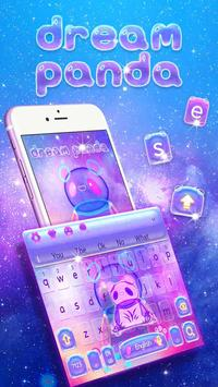 Neon Panda Keyboard Theme poster