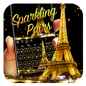 Sparkling Golden Pairs Live Keyboard icon