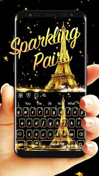 Sparkling Golden Pairs Live Keyboard poster