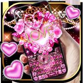 Teclado rosa do amor coração ícone