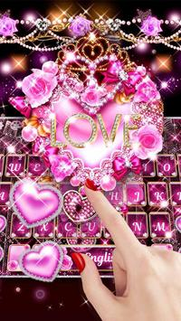 Teclado rosa do amor coração imagem de tela 1