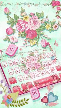 Pink Flower Keyboard screenshot 1