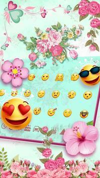 Pink Flower Keyboard screenshot 2