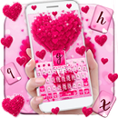Pink Love Heart Keyboard Theme APK