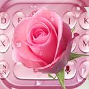 Pink Rose Water Drop Keyboard APK