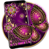 Purple Gold Butterfly Keyboard Zeichen