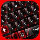 Red Black Glass Keyboard APK