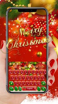 Red Christmas Keyboard poster
