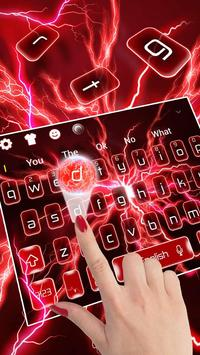 Red Lightning Keyboard poster