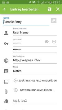 Keepass2Android screenshot 2