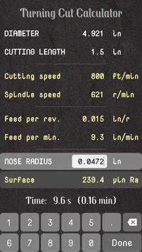 Turning Cut Calculator screenshot 6