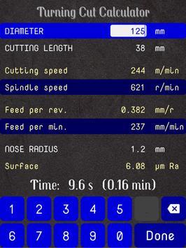 Turning Cut Calculator screenshot 8